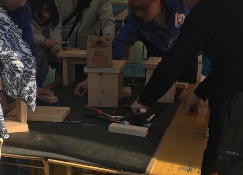 八王子いちょう祭り 木工体験