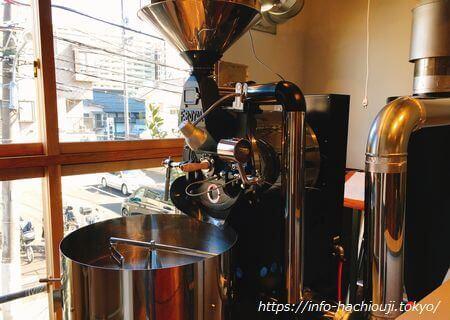 カキノキハウスのコーヒー焙煎機