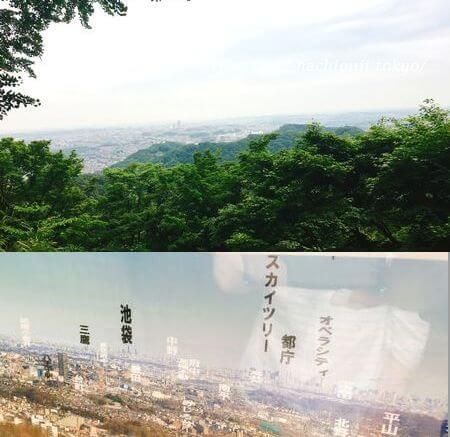 高尾山 1号路 金毘羅台展望台