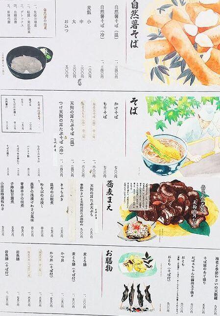 高尾山お蕎麦屋 栄茶屋 メニューと価格