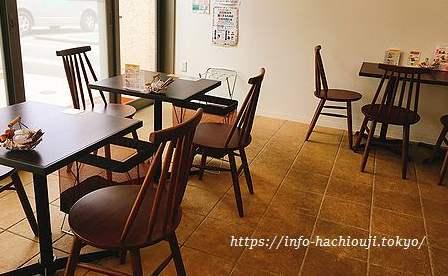 八王子福祉作業所カフェ店内